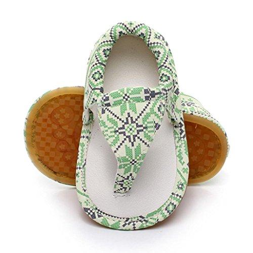 Baby Sandalen Schuhe, Sunnyyoyo Kinder Beiläufig Quasten Sommer Sandalen Print Hollow Sneaker Grün