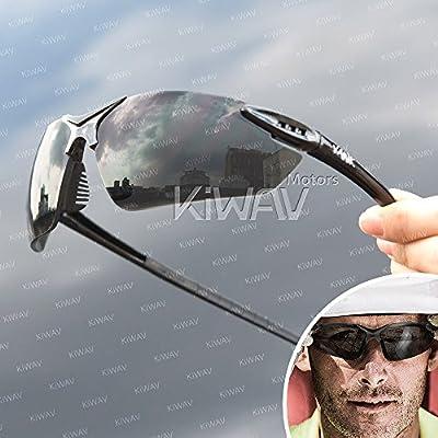 VAWiK sports indoor/outdoor safety glasses eye wear VA830, black frame, replaceable lens smoke/ silver mirror 1 PAIR