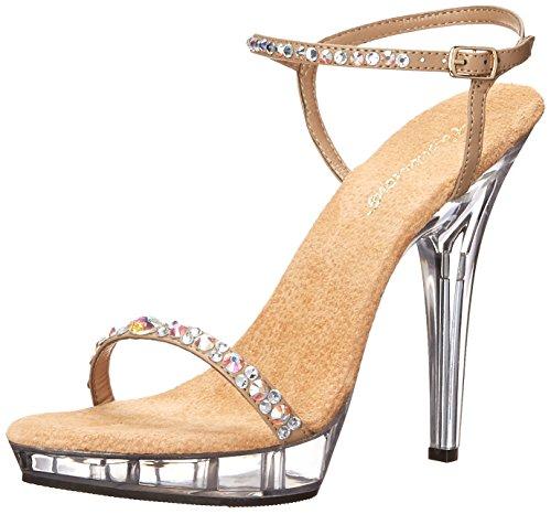 Fabulicious Kvinnor Läpp 131 Klänning Sandal Taupe