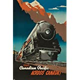 Canadian Pacific - Across Canada Vintage Poster (artist: Ewart) Canada c. 1947 (9x12 Art Print, Wall Decor Travel Poster)
