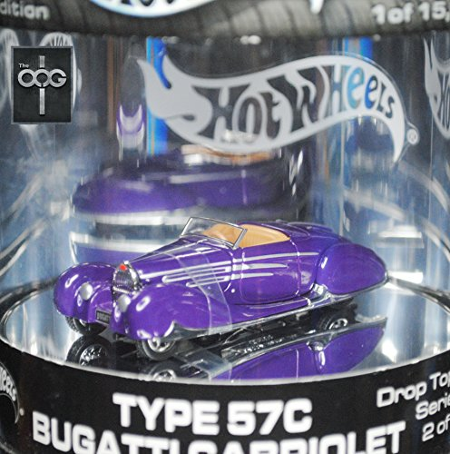 Hot Wheels Oil Can Type 57C Bugatti Cabriolet 2 of 4 Drop Top Series 1/15000 Production Run Cabriolet Top
