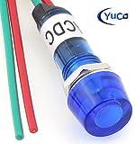 PACK OF 10 YuCo YC-9WRT-1B-24-10 BLUE 9MM LED