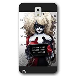 UniqueBox Harley Quinn Custom Phone Case for Samsung Galaxy Note 3, DC comics Harley Quinn Customized Samsung Galaxy Note 3 Case, Only Fit for Samsung Galaxy Note 3 (Black Frosted Shell)