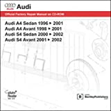 AB55 Audi A4 S4 1996-2002 Repair Manual on DVD-ROM