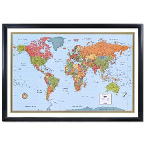 32x50 rand mcnally world signature push pin travel wall map foam 32x50 rand mcnally world signature push pin travel wall map foam board mounted or framed sciox Images