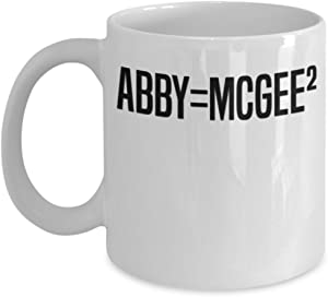 Abby = Mcgee Squared NCIS Coffee Mug Cup (White) 11oz Gibbs Rules NCIS Gift Merch Merchandise Accessories Shirt Pin Decal Decor Ducky Ziva Abby