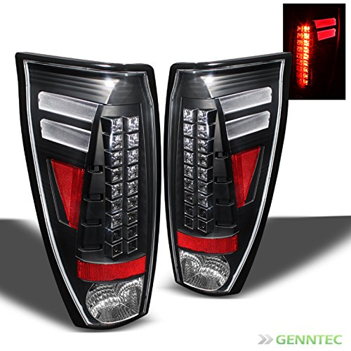 2002-2006 Chevy Avalanche LED Black Tail Lights Lamps Rear Brake Pair ()