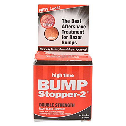 High Time Bump Stopper-2 0.5 Ounce Double Strength Treatment (14ml) (3 Pack) (Best Razor Bump Treatment)