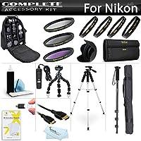 Accessory Bundle Kit For Nikon Df D5500 D5200 D5300 D3300 D610 DSLR Camera Includes BackPack Case + 57