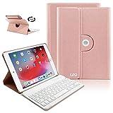iPad Keyboard Case 9.7 for iPad 2018 (6th Gen), iPad 2017(5th,Gen), iPad Pro 9.7, iPad Air 1/2 Slim Leather Folio Cover with Wireless Bluetooth Keyboard (Champagne)