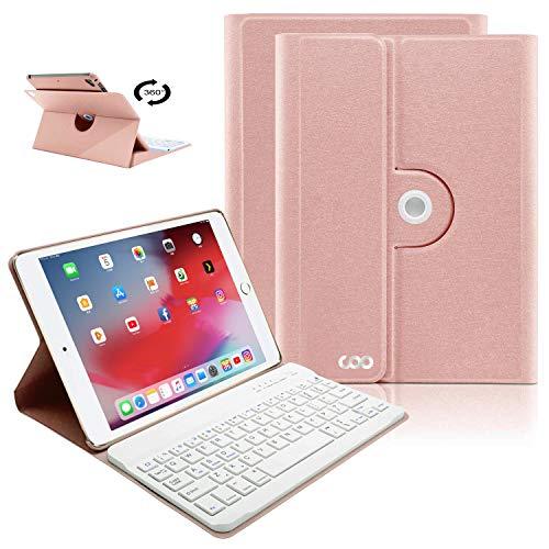 iPad Keyboard Case 9.7 for iPad 2018 (6th Gen), iPad 2017(5th,Gen), iPad Pro 9.7, iPad Air 1/2 Slim Leather Folio Cover with Wireless Bluetooth Keyboard -