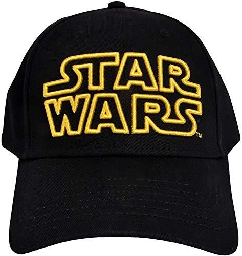 Star Wars Classic Embroidered Logo Outline Adult Hat Baseball Cap, Black ()