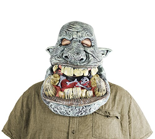 California Costumes Battle Troll Big Mouth Costume Mask with Movable Jaw - Adult Standard (Movable Masks)