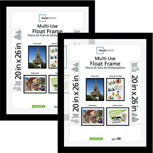 Classic Styles Mainstays Decor 20x26 Multi-Use Float Poster and Picture Frame, Set of 2