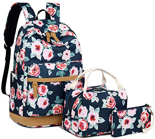 6fb683fb6f0f BLUBOON Teens School Backpack Set Girls School Bags