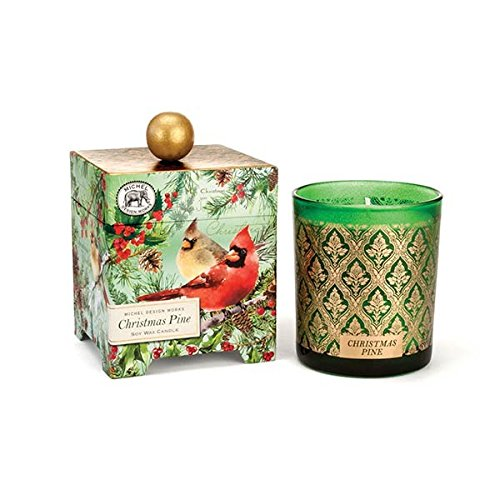 Michel Design Works Gift Boxed Large Soy Wax Candle, Christmas Pine, 14 oz by Michel Design Works