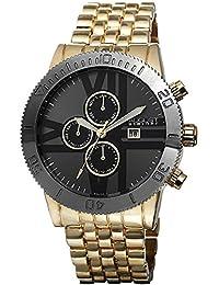 August Steiner Men's AS8086YG Analog Display Swiss Quartz Gold Watch