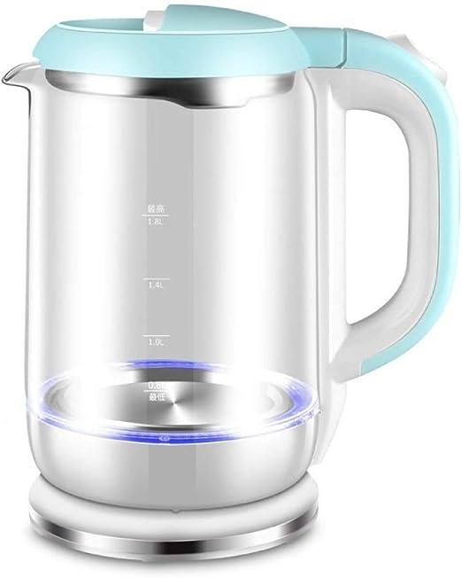 ZHANGM Hervidor eléctrico, Vidrio de borosilicato Libre de BPA ...