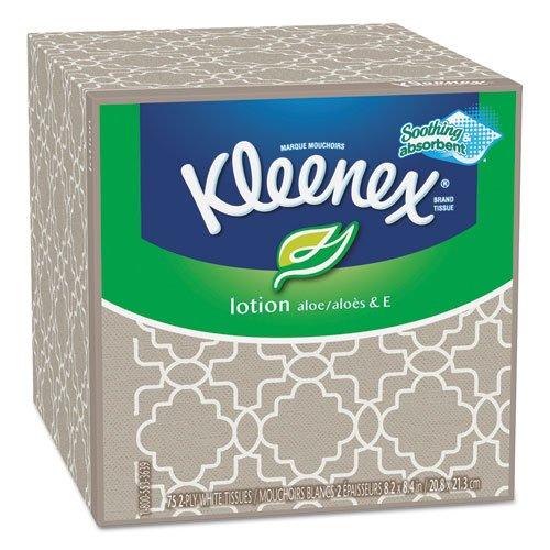 Kimberly-Clark クリネックスローションティッシュ、3プライ、ボックスあたり75シート - 25829BX B0086L2VU2