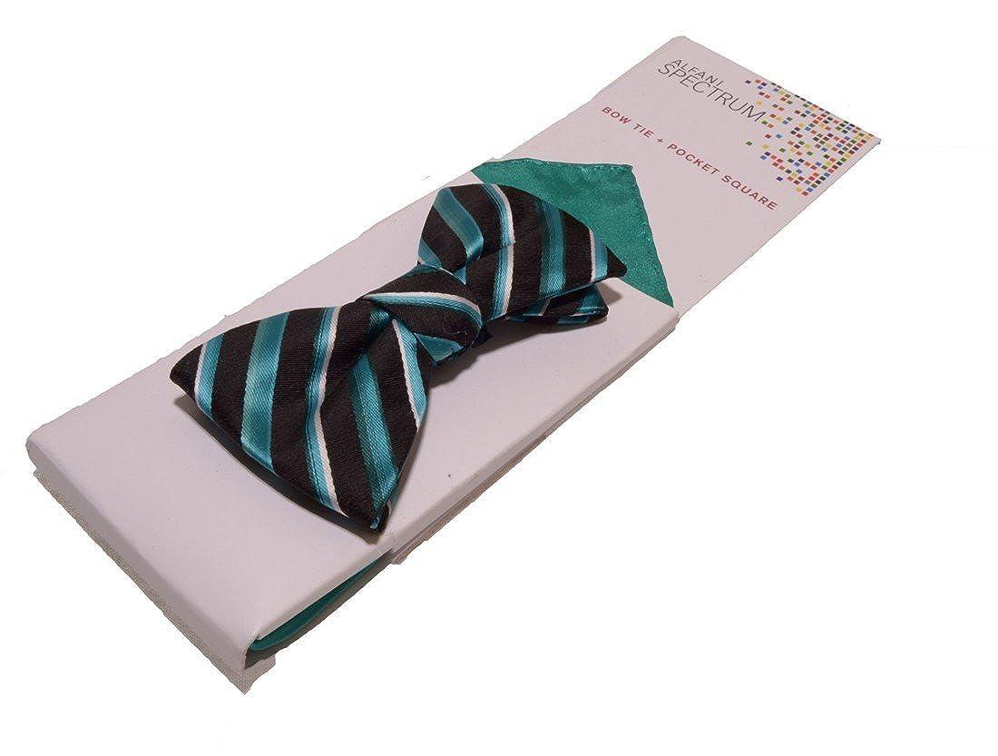 Alfani Spectrum Adjustable Casanova Stripe Bow Tie Pocket Square