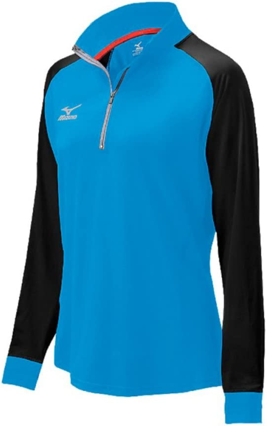 Mizuno Womens 440574.5S90.03.Xs Elite9 Prime 1//2 Zip JKT Diva Blue Black