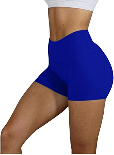 Minghe Womens Workout Shorts High Waisted Ruched Booty Running Gym Yoga Shorts for Summer