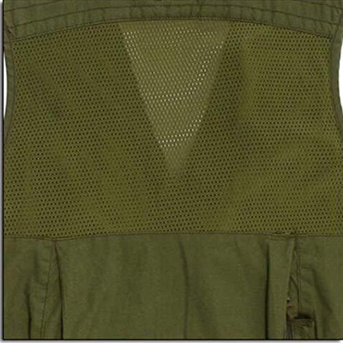 Outdoor Pesca Fotografia Maglia Comode Per Fashion Hx Gilet Uomo pocket Simile Multi Armygreen Taglie Abiti vqwpnfCn