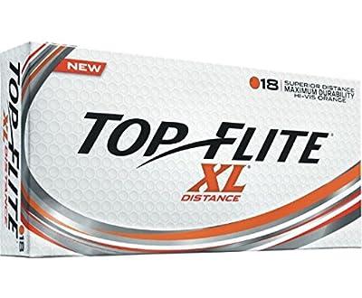 Top Flite Golf Balls XL Distance - Superior Distance - Durable Long Lasting - Orange
