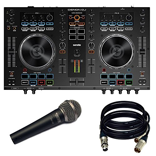 Price comparison product image Denon DJ MC4000 2-Ch 2-Deck Serato DJ Controller - New. W/ NOVIK MIC and 2 XLR Cables.