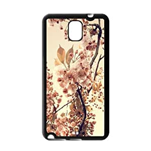 Retro Vintage Flower Snap On Non-Slip Grip Hard Back Soft Cover Case For Samsung Galaxy Note 3 III (Plastic And TPU)