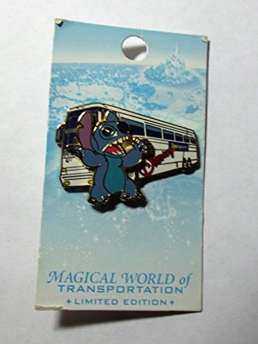 Magical World of Transportaion - pin pursuit - Disney Transportation Bus pin (Stitch) LE 2000, PinPic # 45681