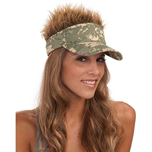 Camo Visor with Spiked Hair 3 removable ()