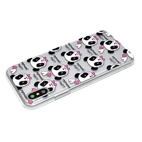 Mokyo iPhone X TascheStoßfest Niedlich Muster Weiche Durchsichtig ...