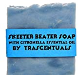 TRASCENTUALS Skeeter Beater Soap with Citronella Essential Oil to Repel Mosquitoes Ticks and Other Biting Insect (1 Soap with Case)