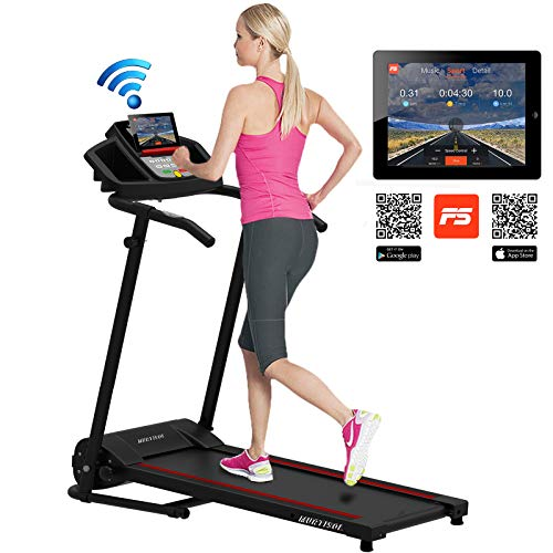 Murtisol Smart Digital Electric Folding Treadmill W/Bluetooth MT-1600 Running Workout Machine for Home