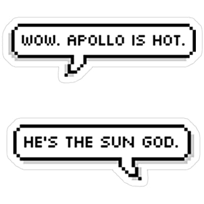 MrMint Apollo is HOT Stickers (3 Pcs/Pack) 2006766698511: Kitchen & Dining
