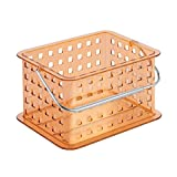 Small Bathroom Storage Ikea InterDesign Zia Bathroom Storage Basket for Shampoo, Lotion, Health and Beauty Products - Small, Orange