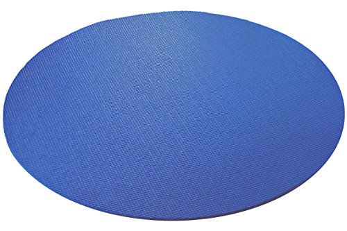 YogaAccessories Extra Thick Round Yoga Mat - Dark Blue