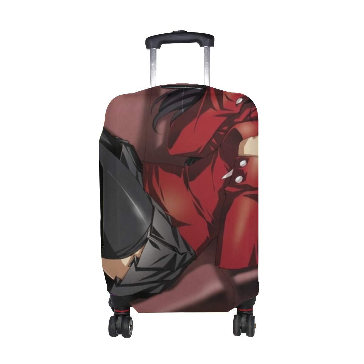 Maxm Anime Girl Dear Sofa Stockings Smile Pattern Print Travel Luggage Protector Baggage Suitcase Cover Fits 18-21 Inch Luggage