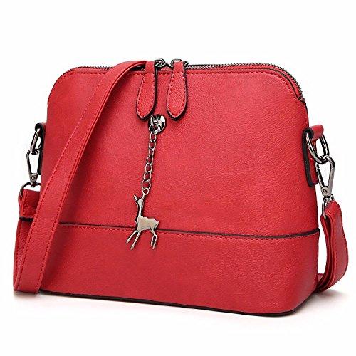 Regalos de Vacaciones Elegante Bolso De Hombro Bolsas Bolsos para Mujer Pequeña Señoras Bolsos Bolsas Bandoleras Brown Red