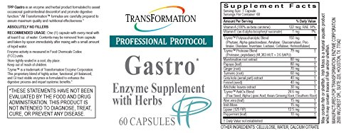Transformation Enzyme - Gastro, Supplement with Herbs Formulated to Alleviate Gastrointestinal Discomfort and Promote Digestive Function, Support for Relief of Heartbur (60) by TRANSFORMATION THE GENESIS OF GOOD HEALTH (Image #1)