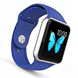 Apple Watch Band - WantsMall Soft Silicone Sport Style Replacement iWatch Strap for 38mm Apple Watch Models (Royal Blue)