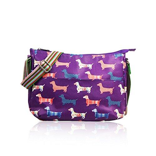 Matte Bag Purple Style Sausage Canvas SALE Dog Messenger Designer 8qUI0fp