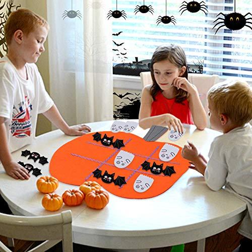 45x43cm Pumpkin Tic Tac Toe Game Kid Educational Games Festive Party Supplies