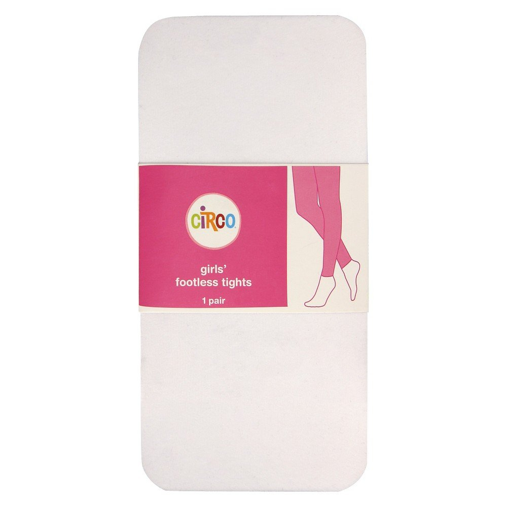 e5b7a8948 Amazon.com: Circo Girl's Footed Tights White Size 12-14: Clothing