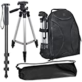"Pro Sports Kit For: EOS Rebel T1i, Rebel T2i, Rebel T3i, EOS Rebel T4i, EOS Rebel T5i, EOS Rebel T6i, EOS Rebel T6, EOS Rebel T6s: Deluxe Photo Backpack + 50"" Tripod + 72'' Monopod"
