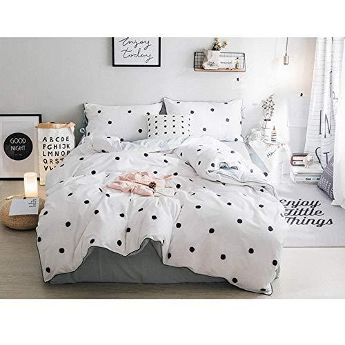 Tcaijing 寝具セット4ピースセット綿100%洗浄綿2枕カバー1キルトカバー1枚のシート3フィートオプションの家の寝室の誕生日プレゼント (色 : 青, サイズ さいず : 2.0M) B07Q1H94KW 青 2.0M