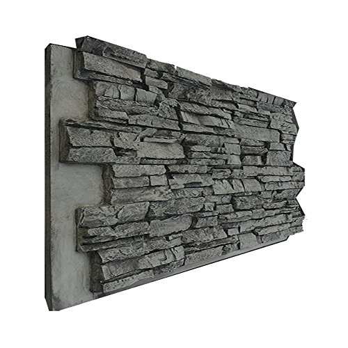 BuyFauxStone 48W X 24H X 1½D Deep Stacked Stone Wall Panel-CHARCOAL