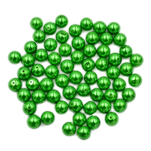AD Beads Top Quality Czech Glass Pearl Round Loose Beads 3mm 4mm 6mm 8mm 10mm 12mm (12mm (100 Pcs), Green) ()