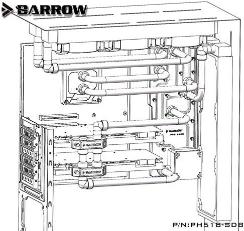 Barrow LRC 2.0 Waterway Plate for PHANTEKS 518 PC Case